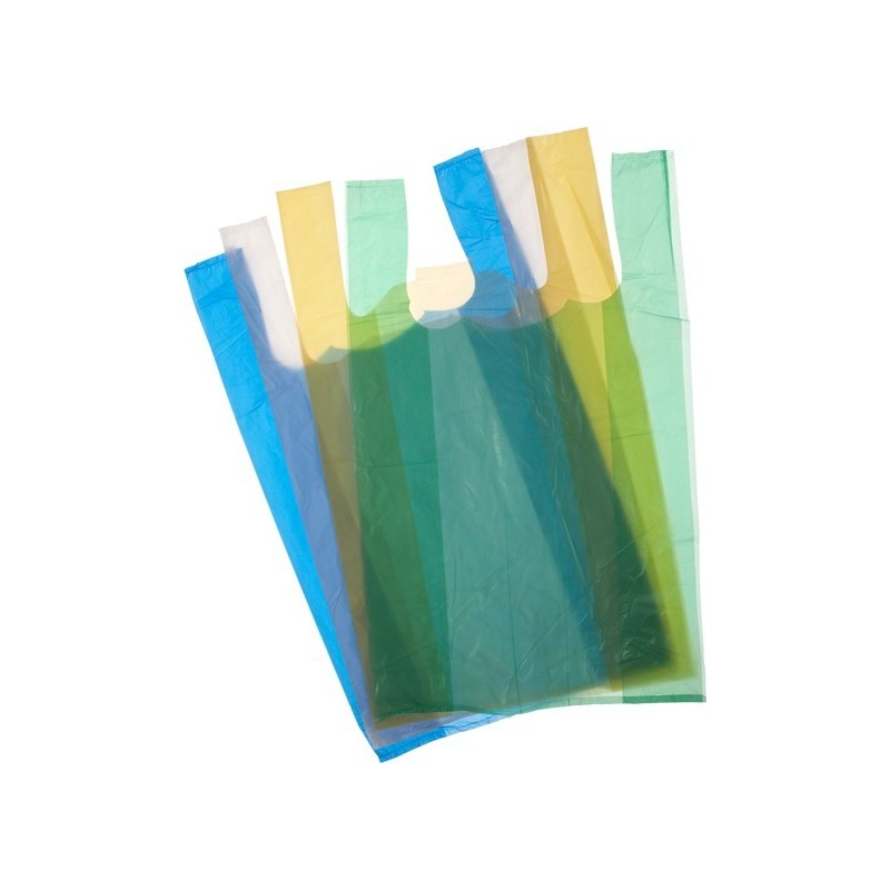 Sacs bretelles PEHD liasses (blanc-bleu-jaune-vert)