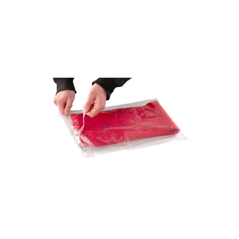 Sacs plats avec patte adhesive