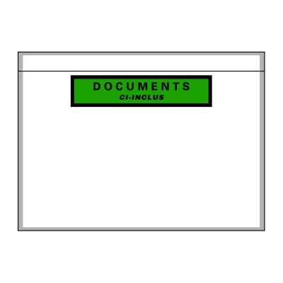 Pochette porte-documents adhésive recyclable