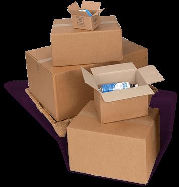 pile cartons